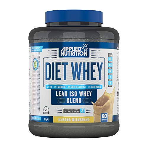 Applied Nutrition Diet Whey Protein Powder Supplement Low Carb & Sugar High Protein, Weight Loss, with CLA Gold, L Carnitine, Green Tea, High Phd Standard 2kg - 80 Servings (Banana Milkshake)