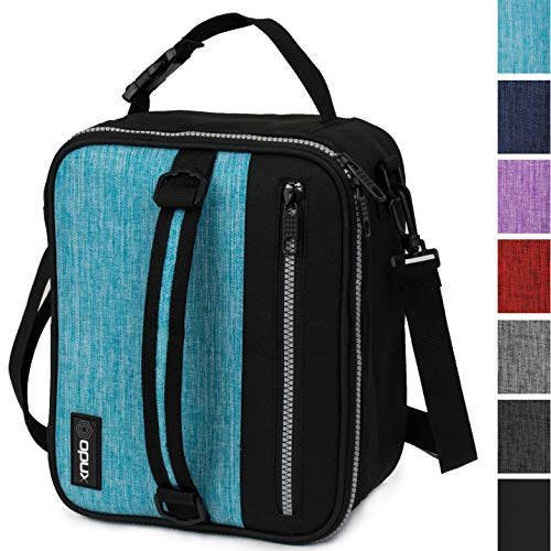 OPUX Premium Insulated Lunch Box for Men, Women | School Lunch Bag for Boys, Girls, Kids | Compact Adult Lunch Pail Work Office Cooler | Soft, Leakproof, 4 Ways to Carry | Fits 12 Cans (Turquoise)