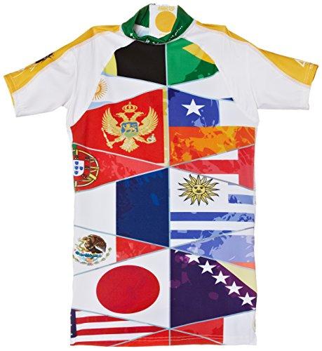 Multicolore Maglietta da Nuoto Bambina 4BB2 Poupee Russe Multicolore con Protezione UV
