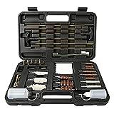 LINGSFIRE Kit per Pulizia Armi Universale, 85pcs Kit di Accessori per la Pulizia di Pistol...