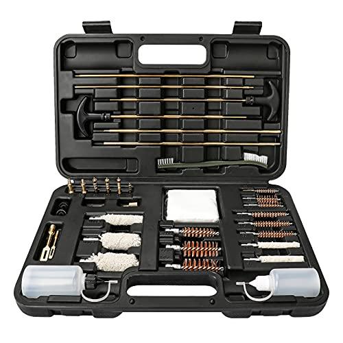 ✔ 【KIT PERFETTO PER LA PULIZIA DELLA PISTOLA】 - Questo set per la pulizia della pistola include 2 bacchette in rame da 4 mm, 2 bacchette in rame da 5 mm, 1 bacchetta in rame da 4 mm con manico, 1 bacchetta in rame da 5 mm con manico, 6 punte appuntit...