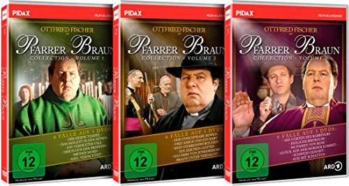 Pfarrer Braun Collection - Gesamtedition / 18 Folgen der Krimireihe mit Ottfried Fischer auf 9 DVDs (Pidax Film-Klassiker)