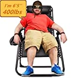 Oversized Zero Gravity Chair, Support 400lbs XL Wide Lounge Chair (4 inch Wider Than Standard Size)...