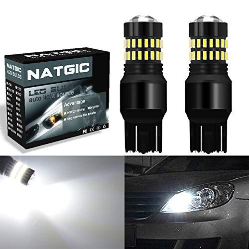NATGIC 2PCS 7443 Bombillas LED Xenón blanco 1200lm 48 SMD 4014 chip LED T20 7444NA 7440 7440NA 7441 992 Con proyector para luces de giro traseras / luces de marcha atrás