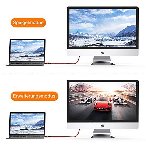 HDMI Kabel 4K 60hz | 2m – Snowkids 4K@60HZ HDMI 2.0 des Rutschfesten Kabel Aktualisierte Version mit 18Gbps HDCP 2.2, 3D UHD Ethernet ARC-kompatiblem HDTV, PS4, Projektor – Rot - 7