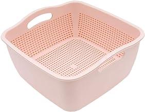 Hemoton Coador de Cozinha Conjunto de Tigela de Filtro Tigela de Lavagem 2 Em 1 E Filtro de Camada Dupla Cesta de Bacia de...