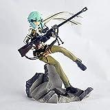 Espada Arte en línea ⅱ Figura de acción-ggo Asada shino-23 cm-Estatua-Modelo-decoración-Anime carácter-niño muñeco-Juguete-Souvenir-Amantes colección-Sinon Regalo