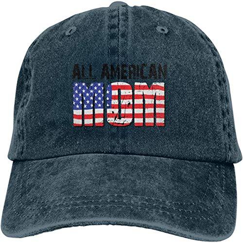 Heefan All American MOM - Gorra de béisbol unisex, estilo clásico, vintage, de sarga, ajustable, casquette,...