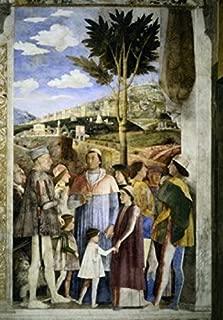 Camera degli Sposi The Meeting Andrea Mantegna (1431-1506Italian) Fresco Palazzo Ducale Mantua Poster Print (24 x 36)