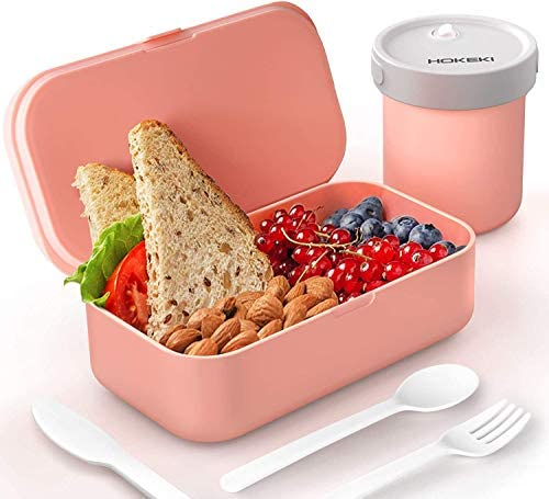 Bento Box Set For Adults Kids HOKEKI 50oz BPA Free Lunch Box with Cutlery Food Storage Container product image