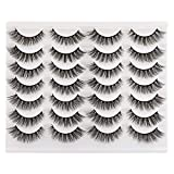 Newcally Lashes False Eyelashes Cat Eyes Wispy Natural Faux Mink Lashes 14 Pairs Pack Light Volume Short Fake Eye Lashes Multipack