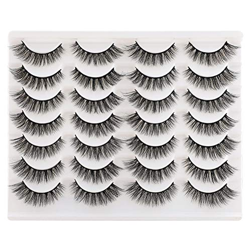 Newcally Lashes False Eyelashes Wispy Natural Fake Eyelashes Light Volume Faux Mink Eye Lashes 14 Pairs Pack