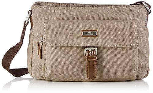 TOM TAILOR Umhängetasche Damen RINA Umhängetaschen, Grau (taupe 21), 26x14x8 cm, TOM TAILOR Handtaschen, Taschen für Damen, klein