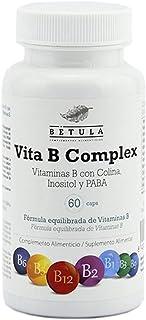 Betula - Vita B Complex. Vitaminas B con Colina. Inositol y PABA. 60 VegCaps