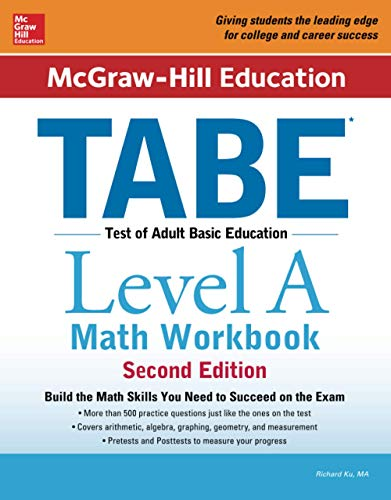 Mcgraw Hill Education Tabe Level A Math Workbook Second Edition