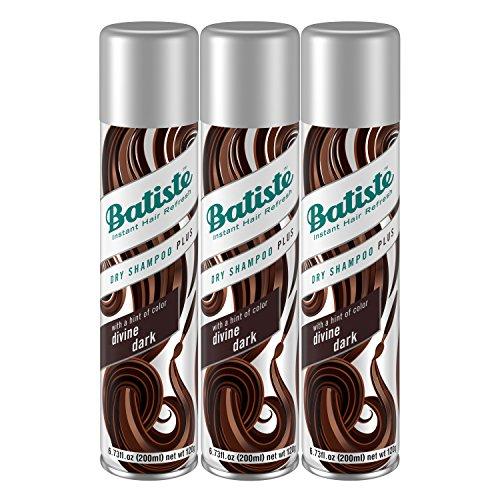 Batiste Dry Shampoo, Divine Dark, Brown, 3 Count