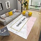Kunsen Alfombra Juegos Alfombra Silla Ruedas Alfombra de Dormitorio Rectangular Confort Confort Floor Mat Blanco Pink alfombras Dormitorio 180x280cm 5ft 10.9' X9ft 2.2'