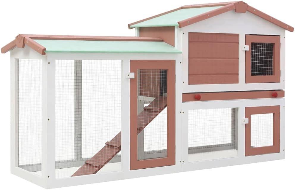Rabbit Hutch Indoor Outdoor Wood Bunny Coop H Chicken Max 53% OFF Popular overseas Cage