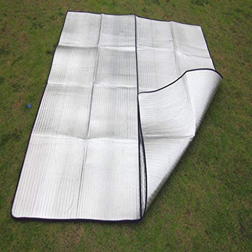 JEOSNDE Manta de Picnic al Aire Libre Impermeable Gran Carpa Plegable portátil Estera Película de Aluminio Impermeable PE Tela de Picnic Accessorios de Viaje
