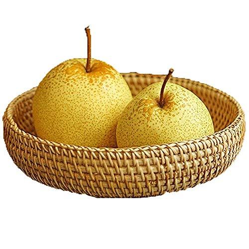 SHUSHI Hand Made Woven Storage Basket Rattan Basket Desktop Storage Woven Basket Wicker Basket Wooden Basket Woven Basket Nut Basket Dried Fruit Basket Gift Basket