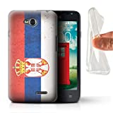 Stuff4, serie European Flag, cover o skin per smartphone LG-GC Sebia/Serbian LG L65/D280
