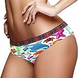 YITIAN Bragas de mujer Sea Travel Icono Set Soft Stretch Bikini Ropa interior personalizada S-XL