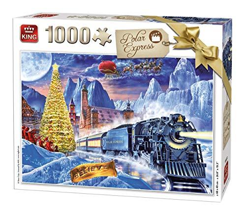 KING 55872 Polar Express Puzzle 1000 Teile, vollfarbig, 68 x 49 cm
