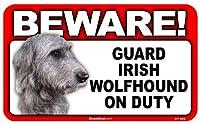BEWARE!IRISH SETTER ラミネートサイン:アイリッシュセター 注意 警戒中 Made in U.S.A [並行輸入品]