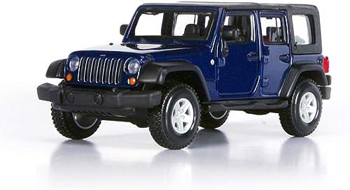 venta al por mayor barato PENGJIE-Model Jeep Jeep Jeep Wrangler Car Model 1 32 Simulación Aleación Original Jeep Robin Hood Modelo Off-Road (Color   Dark azul 113)  barato y de moda