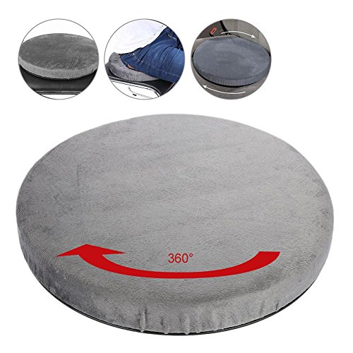 Rotating Car Swivel Seat Cushion Rotatory Chair Pad Comfort Skidproof Antiskid Office Home Use 360 Degree Rotation for Turns Change in Direction Transferring Between Seats