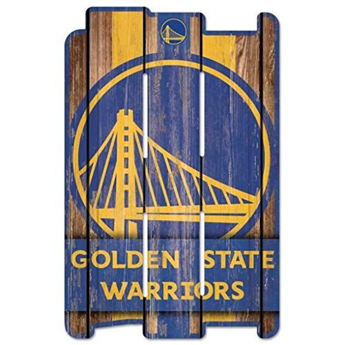 WinCraft NBA Golden State Warriors SignWood Fence Style, Team Color, 11x17