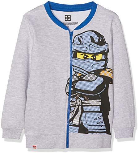 Lego Wear Jungen Lego Boy Ninjago CM-73121 Sweatjacke, Grau (Grey Melange 921), 104