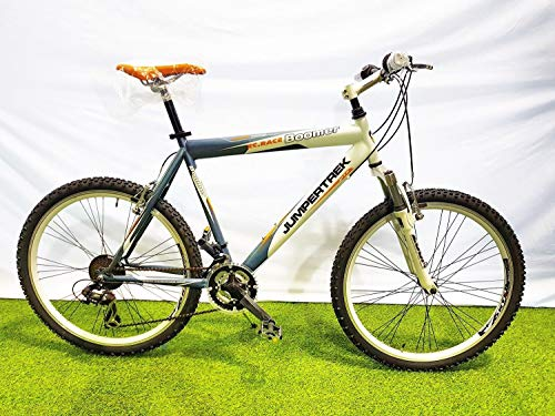 CINZIA Bici Bicicletta 26' Modello Boomer MTB Mountain Bike (Blu-Bianco, 47 H)