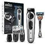 Braun Recortadora Barba BT5065 - Máquina Cortar Pelo, Recortadora Barba y Cortapelos, Afeitadora Mini, con Cuchillas Afiladas de Larga Duración, Color Negro/Plata