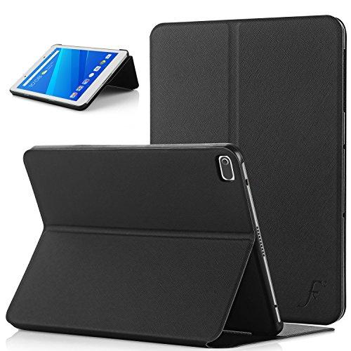 Forefront Cases® Lenovo Tab 4 8 / Lenovo Tab4 8 Funda Carcasa Stand Case Cover – Ultra Delgado y Protección Completa del Dispositivo (Negro)