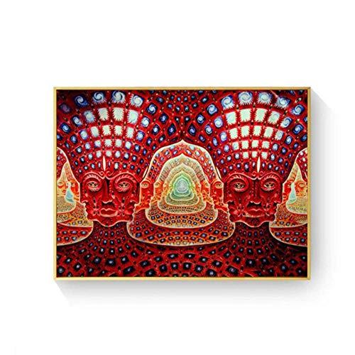 artaslf Psychedelic 5D DIY Diamond Embroidery Art Abstract Tree Human face Square Full Diamond Painting Cross Stitch Rhinestone- 40x60cm unframed