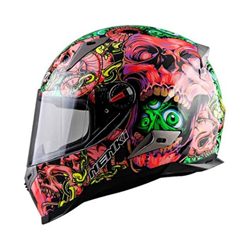 Casco de Moto abatible para Hombre Cascos de Moto con Visera ABS antiniebla Cascos de Moto Moto Motocross Racing