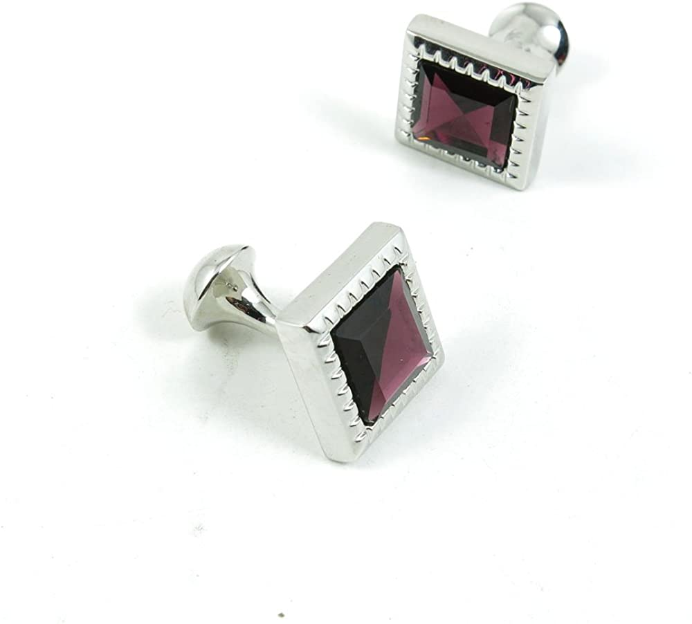 Cufflinks Cuff Links Classic Fashion Jewelry Party Gift Wedding 537784 Deep Red Crystal Square