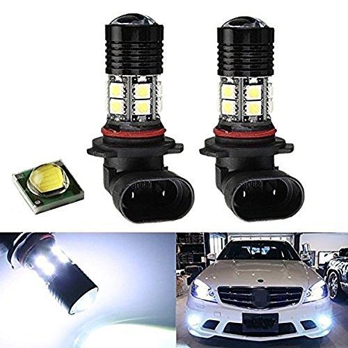 KaTur Lot de 2 ampoules HB4 9006 12 LED 5050 SMD pour feux de circulation diurnes Blanc 12 V CC