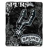 Officially Licensed NBA San Antonio Spurs Dropdown Plush Raschel Throw Blanket, 50' x 60', Multi Color