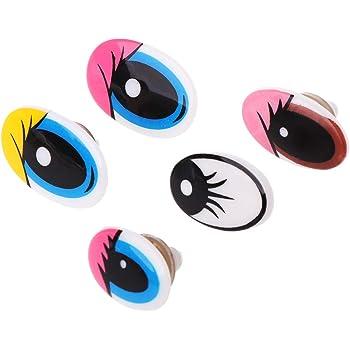 10mm 100pcs 8//10//12//15//18//20mm Sew-on Craft Sew Wiggle//googly Eyes Doll Animal Puppet Optional