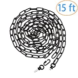 Eumyviv 15ft Heavy Duty Chain for Light Fixture, Pendant Light Extra Chain Permits Installation of Chain-Hung...