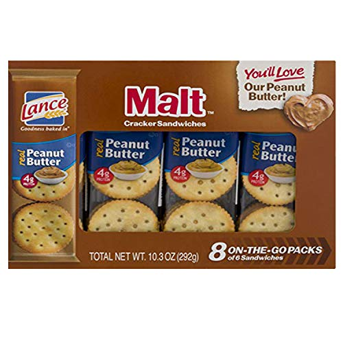 Expect More Lance Malt with Peanut Butter Sandwich Crackers, 6 pk. / 48 Ct