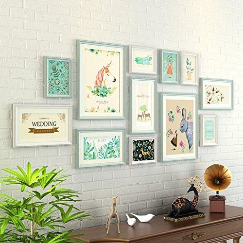 &Decoratieve muren 12 Stks/Set Home Decoratie DIY Photo Frame Sets Voor muur Familie fotolijsten Sets Met Foto Kaart Modieus ontwerp ( Kleur : #-9 )