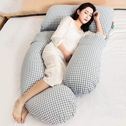 XJZM Almohada de apoyo de maternidad en forma de G Almohada de embarazo suave almohada de apoyo de cuerpo entero almohada ajustable cojín de apoyo y lavable extraíble (color: A)