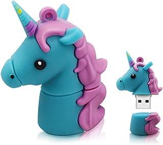 USB Flash Drive USB Flash Disk Memory Stick Thumb Pen USB 2.0 Novelty Silicone Cute Cartoon Unicorn Shape Design Animal Ra...