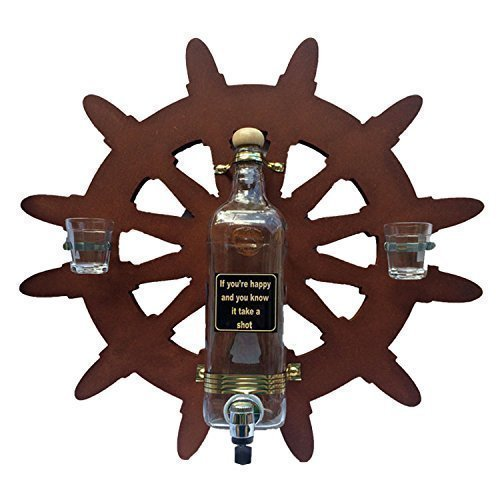 Liquor Dispenser That Hangs on Wall with Jokes in English or Spanish