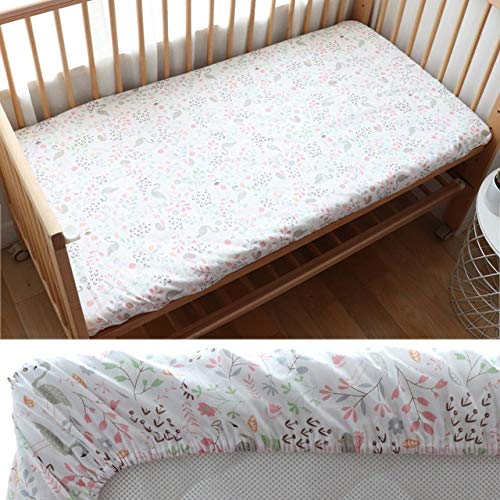 Weichuang Changing pad Baby Crib Fitted Sheet Cotton Baby Cot Bedding For Newborns Kid Bed Mattress Cover With Elastic For Children Accept Custom Make pad (Color : Swan)