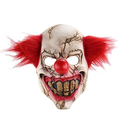 chenyu Terror Clown Maske Halloween Totenkopf Maske Latex Cosplay Dämonen Gesichtsmaske Schutzmaske