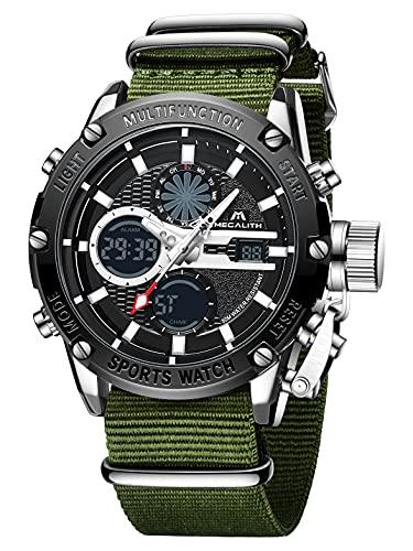 MEGALITH Uhren Herren, Digital Sport wasserdichte Taktische Militär Uhren für Herren, Groß Gesicht Leuchtende multifunktionale männer Armbanduhr, Stoppuhr Alarm LED Armee Wrist Watch